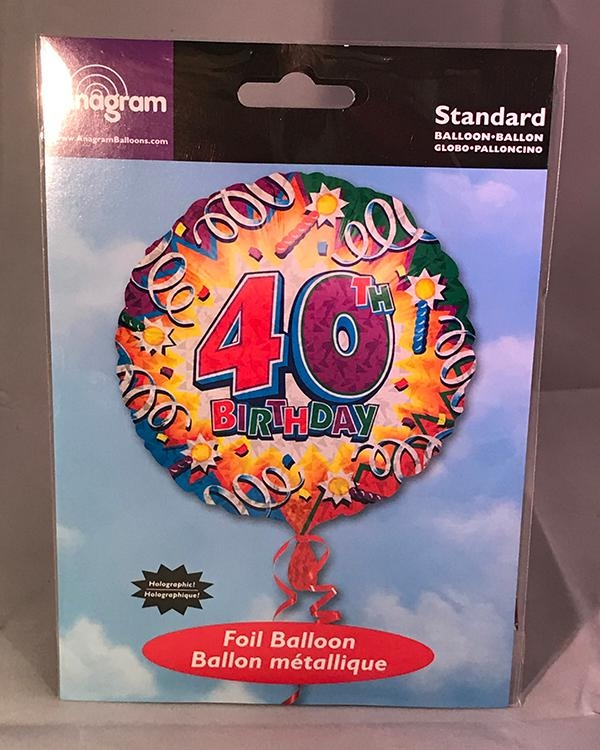 40th Birthday Helium Balloon