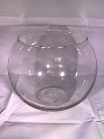 Large Wide Opening Glass Globe Vase