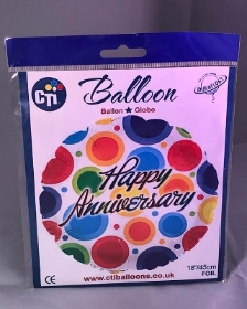 Happy Anniversary Helium Balloon