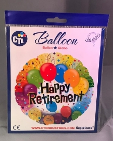Happy Retirement Helium Balloon
