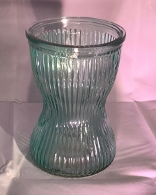 Ribbed Vase Green